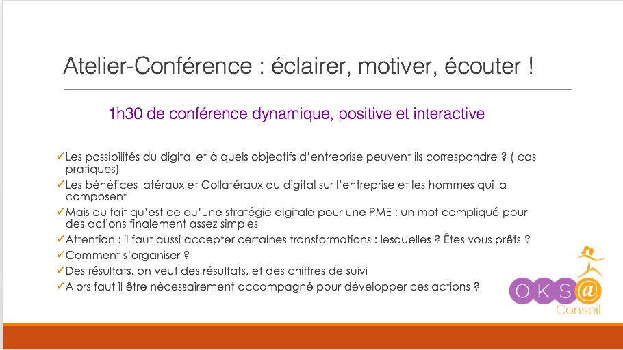 Atelier conférence digital